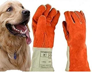 DAN Heavy Duty Heat and Fire Resistant Gloves Perfect for Gardening/Oven/Grill/Mig/Fireplace/Stove/Pot Holder/Tig Welder/Animal Handling/BBQ