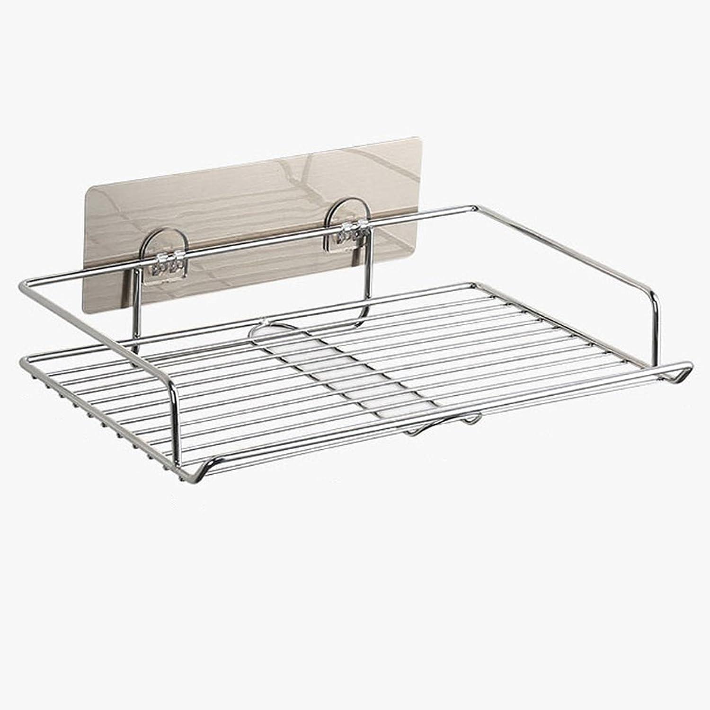 YONGLIANG Toiletries Perforated Wall-mounted Storage Rack Toilet Bathroom Overloading Racks Shelf 304 Stainless Steel Shelves