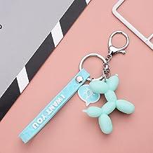 Stereo schattige ballon hond sleutelhanger sleutelhanger creatieve cartoon mobiele telefoon tas auto hanger leuke sleutelh...