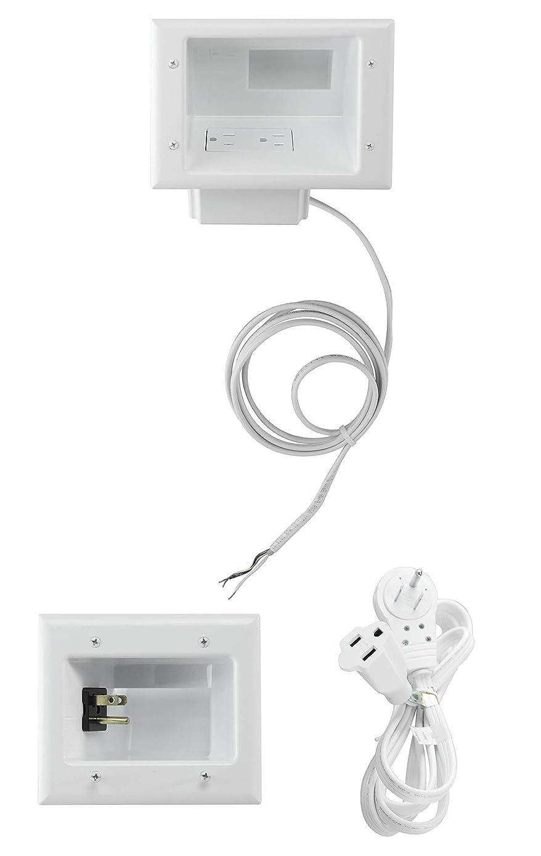 datacomm electronics 50?–?3331-wh-kit 液晶显示器电视连接线记事本套装(小号) 白色
