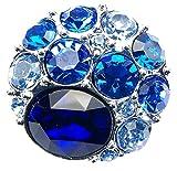 Schmuck Druckknopf Chunk CLIXS it Kristalle aqua-türkies LA211