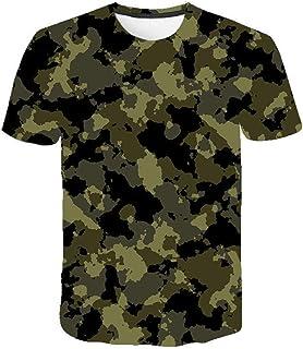 Camiseta para Hombre Moda para Hombre Deportes Fitness 23 Camuflaje Camisa 3DT de Manga Corta Camisa para camuflaje-TXA107...