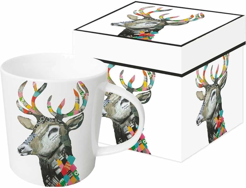 Paperproducts Design 603190 Regalia Deer Gift Boxed Mug, 13.5 oz, Multicolor
