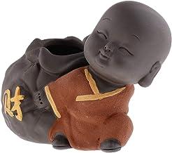 F Fityle Cute Buddha Statue Small Monk Figurine Tathagata India Yoga Mandala Sculptures Tea Pet Ceramic Crafts - Style 08