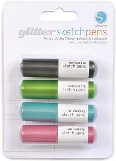SILHOUETTE AMERICA SILH-PEN-GL-3T Sketch Pen Glitter Pack Contains 4PEN