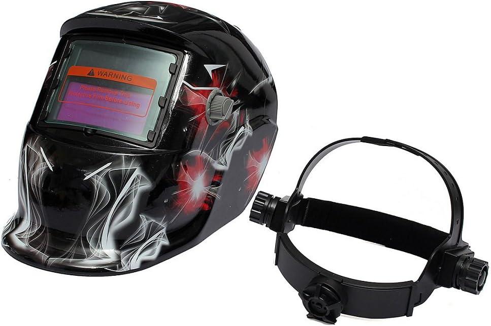 shamjina Pro Solar Energy Mig Tig Auto Darkening Welding Mask Golden Skull 34x22x23cm