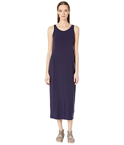 Eileen Fisher Scoop Neck F/L Dress (Midnight) Women