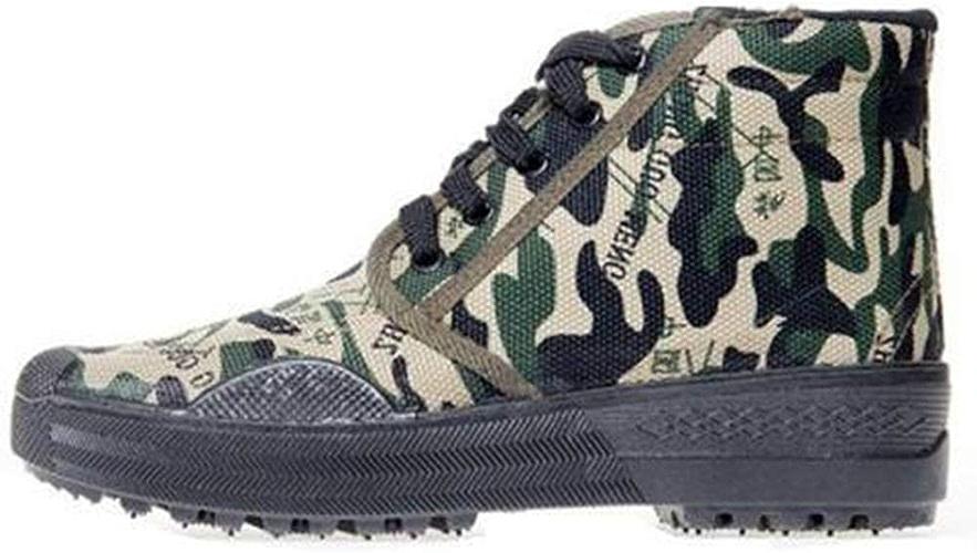 QIAO Chaussures de libération de l'assurance du Travail pour Hommes et Femmes, Chaussures d'entraînement en Plein air Chaussures d'entraînement Militaires, antidérapantes résistantes à l'usure,C,45