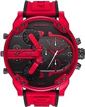 ディーゼル DIESEL 男性用 腕時計 メンズ ミスターダディ MR DADDY 2.0 クロノグラフ レッド DZ7431 時計 クアッドタイム 4タイムゾーン ストップウォッチ 赤色 ビッグサイズ