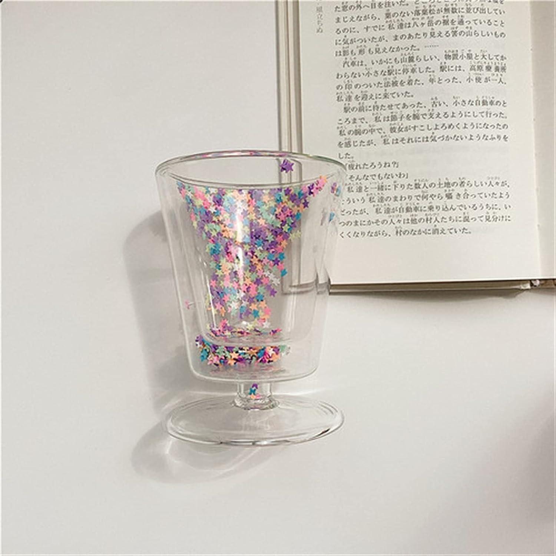Mug Double Max 86% OFF Layer Love Quicksand Glass Cup Girl Cute Max 64% OFF Heart Creati