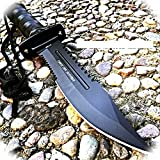 New 11' Inch Tactical Fishing Hunting Pro Tactical Limited Knife W Sheath Bowie Survival Kit Camping Camping Outdoor B-0772A by ProTacticalUS