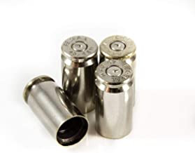 Hollow-Point Gear Silver Bullet Valve Caps - Metal Bullet Valve Caps for Cars, Trucks, and ATVs. Real Bullet Casings!