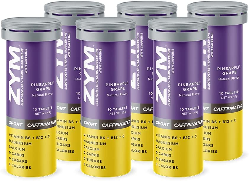Complete Free Shipping ZYM Sport Pineapple-Grape + Effervescent Ta Caffeine It is very popular Electrolyte