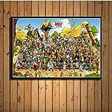 PHhomedecor Leinwanddrucke Poster,Asterix Francia Classic