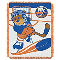 "The Northwest Company Officially Licensed NHL New York Islanders Score Woven Jacquard Baby Throw Blanket, 36"" x 46"", Multi Color"