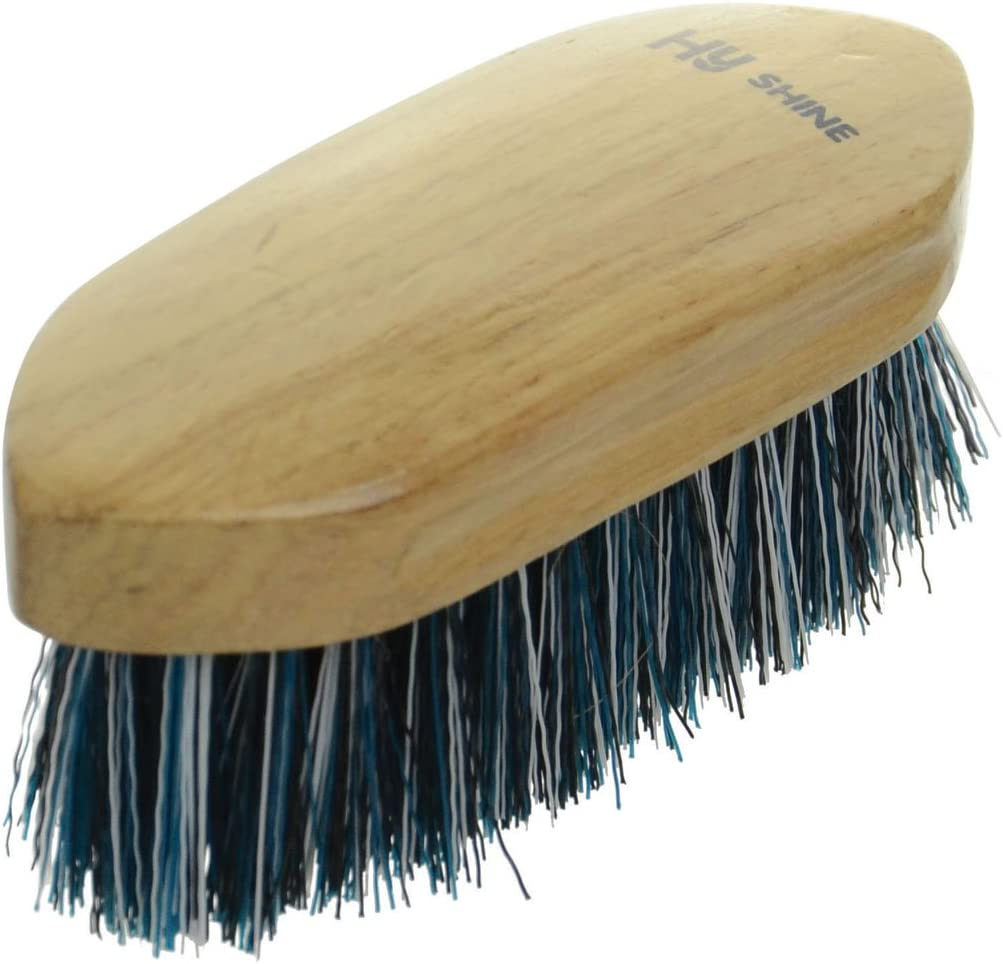 HySHINE Natural Wooden Dandy Brush Small 15 x 5.8cm Teal//Black//White 10921