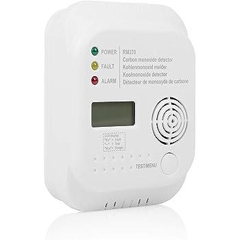 Smartwares RM370 Sensore Monossido di Carbonio, Batteria da 1 Anno Inclusa, Durata di 7 Anni, 1 V, Bianco, Singolo