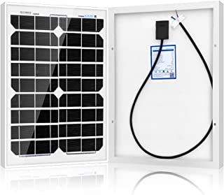 ACOPOWER 20 Watt 20W Mono Solar Panel for 12 V Battery Charging, Off Grid