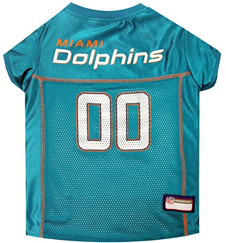 NFL MIAMI DOLPHINS DOG Jersey, Small Shirt Apparel Jersey Cute Outfit for DOGS, CATS, Puppies, Kittens & Small Animals