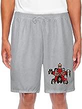 Duola Men's Short Workout Pants Guns Rose Ash