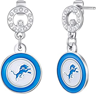 NFL Circle Post Earrings