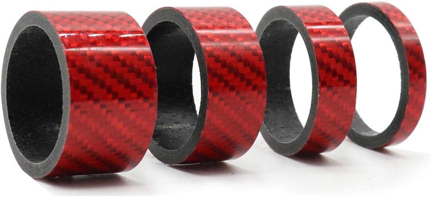 Entretoise 1 1//8 CCUCKY Entretoise Carbone VTT Lot de 4 Tailles 5//10//15//20 mm