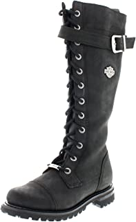 Harley Davidson Womens Savannah Black Leather Boots 6 US