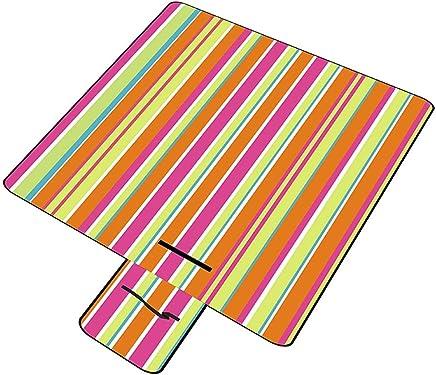 ALXLX Picknickmatte Im Freien, Matte, Gepolsterte Feldwanderung, Rasenmatte Mit Feder, Tragbare Picknickmatte, Farbstreifen 150 × 200 cm B07PVSCQ2P   Perfekte Verarbeitung