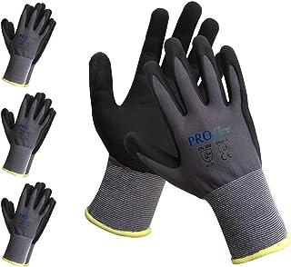 作業用手袋 - PROMEDIX - 軍手 作業手袋 ニトリルコート手袋 背抜き手袋 スベリ止め手袋 (L, 3組 セット)