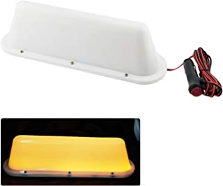 Yellow LED 12V Car Taxi Cab Roof Top Sign Light Lamp Magnetic with 3m Cigarette lighter power cords
