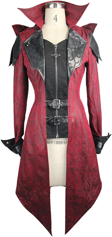 Devil Fashion Steampunk Gothic Hooded Women Leather Jackets Coats Punk Fashion Trench Coat