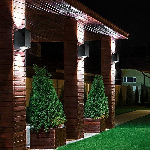 3er Set LED Up Down Strahler Fassaden Up Down Beleuchtung Alu Außen Wand Lampen Garten Leuchten IP44