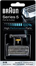 Braun 51S razor Replacement Foil & Cutter Cassette 51S-8000CP 8998 8595 8590 5643 5644 5645 5647 shaving heads by Braun