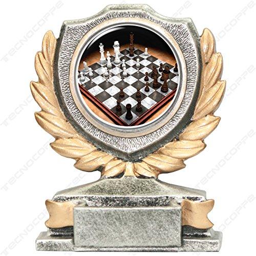 tecnocoppe Trofeo de ajedrez de 12 cm de altura, placa personalizada de regalo