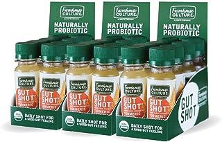 Sponsored Ad - Live Probiotic Ginger Shots, Immunity Boost & Gut Health, Organic & Fermented 24-Pack Turmeric Ginger ACV S...