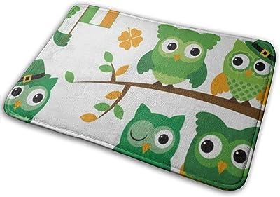 Decorative Doormat Home Decor Cute Animal Owl Welcome Indoor Outdoor Entrance Bathroom Floor Mats Non Slip Washable Mat, 23.6 x 15.7 inch