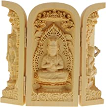 sharprepublic Buddhism Statues Kwan-Yin Statue Statute of God Carved 3 Wood for Collector - Style-7, as described
