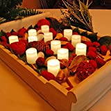 Lumabase 81512 12 Count Battery Operated Votive Candles, Warm White