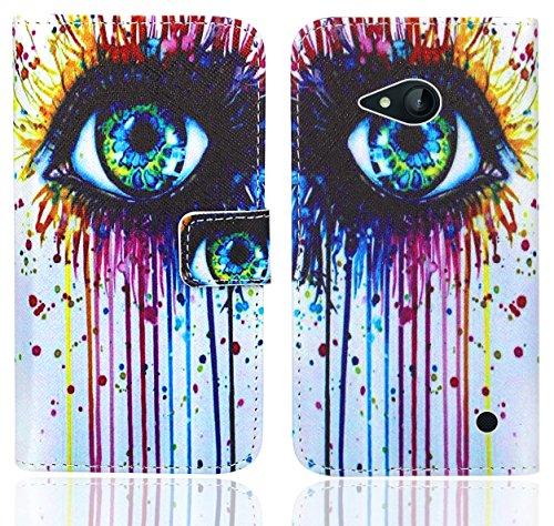 Nokia Lumia 735 730 Handy Tasche, FoneExpert® Wallet Hülle Flip Cover Hüllen Etui Ledertasche Lederhülle Premium Schutzhülle für Nokia Lumia 735 730 (Pattern 10)