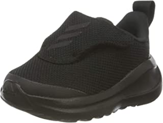 Adidas FortaRun AC Canvas Textile Front Stripe Slip-on Shoes for Kids