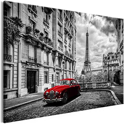 murando Cuadro en Lienzo Paris Negro Blanco 120x80 cm 1 Parte Impresión en Material Tejido no Tejido Impresión Artística Imagen Gráfica Decoracion de Pared Tour Eiffel d-B-0212-b-b