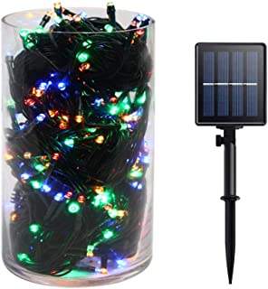 Gr8buy Solar Fairy String Lights with 72ft / 200 LED for Outdoor or Bedroom Christmas Tree Holiday Decoration, 8 Twinkle Mode Starry Lights Includes 1200mA Rechargeable Battery (Multicolor)