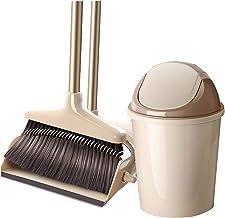 Dustpan and Soft Brush Set Magic Broom Advanced Plastic Dustpan Set Household Cleaning Tool 3 Layer PE Brush Head (Beige) ...