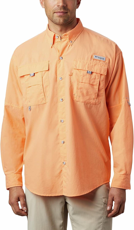 Columbia Men's PFG Bahama II UPF 30 Shirt shipfree Fishing Long Sleeve Manufacturer regenerated product