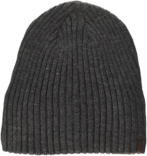 Barts Herren Wilbert Beanie Baskenmütze, Grau (Dark Heather 0019), One Size (Herstellergröße: Uni)