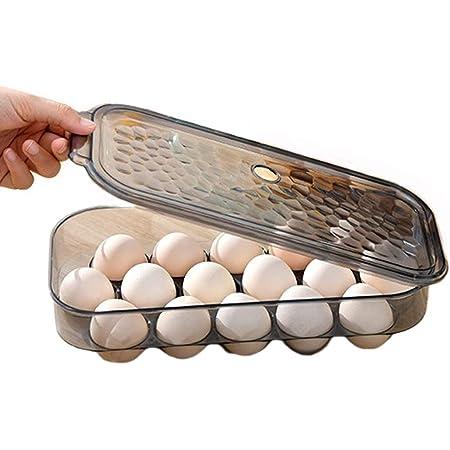 AMACOAM Boite a Oeufs en Plastique Boite Oeuf Frigo Boîte Rangement d'oeufs Empilable Boite Rangement d'oeufs Cuisine Contenant à Oeufs Réfrigérateur 16 Oeufs avec Couvercle Rangement de Cuisine
