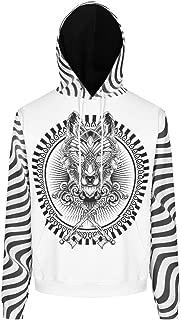 DYG88 Men's Sweatshirts Teen Students Wolf Printed Boyfriend Style - Wolf Long Sleeve Loose-Fit Autumn Tops
