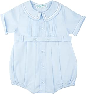 Feltman Brothers Baby Boys Dressy Bubble Outfit with Pintucks (3M) Blue