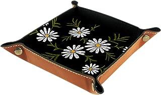 Vockgeng Marguerite Simple Boîte de Rangement Panier Organisateur de Bureau Plateau décoratif approprié pour Bureau à Domi...