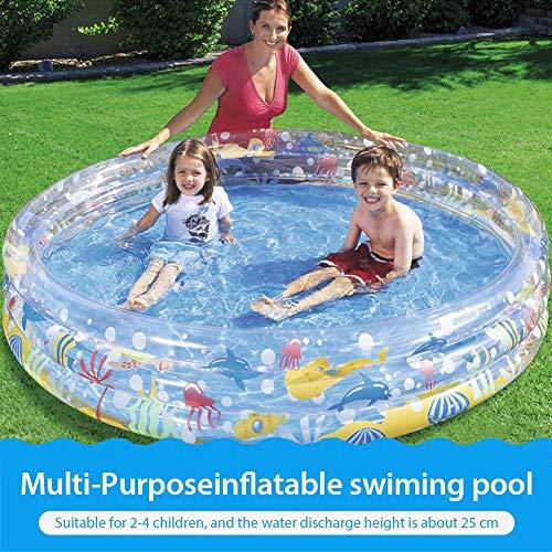 Aufblasbarer Pool, Swim Center Paradise Aufblasbarer Pool, Sprengkiddie-Pool für Familien, Garten, Außenbereich, Garten 59